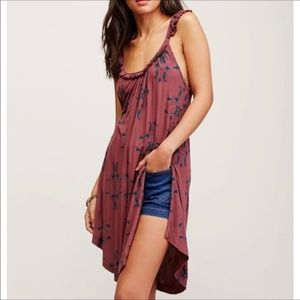 Free People Drifter Maxi Ruffle Tank Shirt Dress